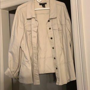 Cream denim stretch jacket